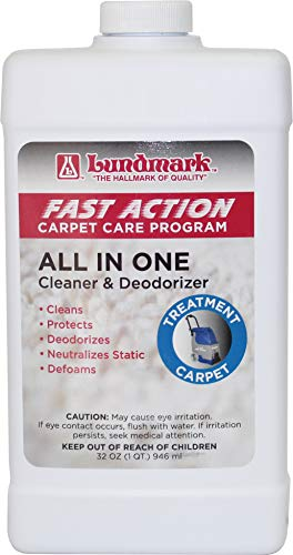 Lundmark Fast Action Professional All in One Carpet Cleaner & Deodorizer for Extraction Type Carpet Cleaning Machines, 32-Ounce, 6204F32-6