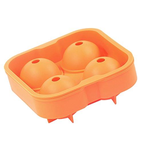 LOVIVER Cóctel Cuadrado Cubo de Hielo Molde Máquina de Hielo Transferencia de Líquido Cocina Novedad Regalo de Mordaza - naranja, tal como se describe