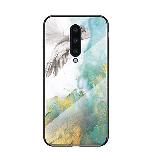 MadBee für OnePlus 8 Hülle [mit HD-Schutzfolie], Marmor Kratzfeste 9H Glas Back & TPU Silikon Rahmen und weichem Bumper Stoßabsorbierende Schutzhülle (Marmor 2)