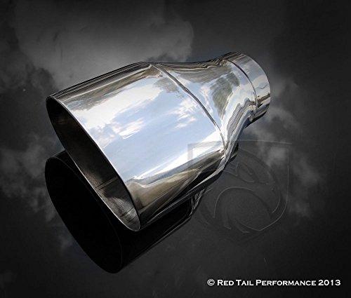 Mina Gallery Exhaust Muffler Tip Oval Forward Straight Slash Cut Double Wall 3