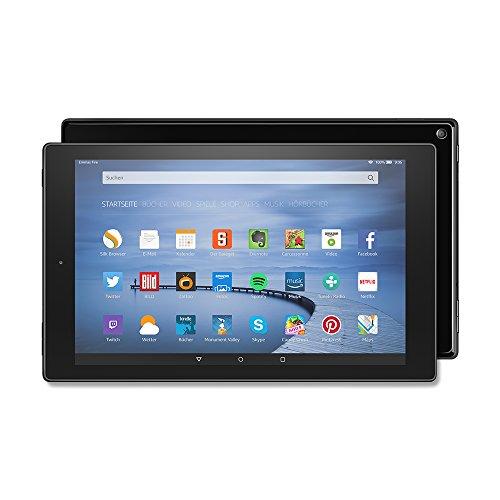 Fire HD 10-Tablet, 25,65 cm (10,1 Zoll), HD-Display, WLAN, 16 GB (Schwarz) - mit Spezialangeboten (vorherige Generation)