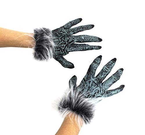 I LOVE FANCY DRESS LTD Gants Mains de Loup Garou de qualité Gris pour Adulte Ideal pour Halloween.