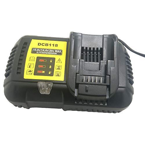 DCB118 para Dewalt 10.8V 12V 14.4V 18V cargador de batería de iones de litio para DCB101 DCB115 DCB107 DCB105 DCB140 para batería de Dewalt DCB200 DCB205 DCB203 DCB204 DCB206 DCB201 DCB120 DCB127