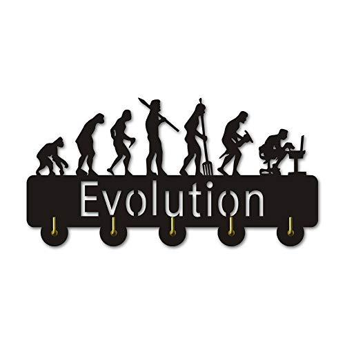 WANDOM 1 Stuk De Evolutie van Man Geek Wandhaak Rekhaak Geek Evolutie Wandjas Haak Sleutel Paraplu Hangende Haken