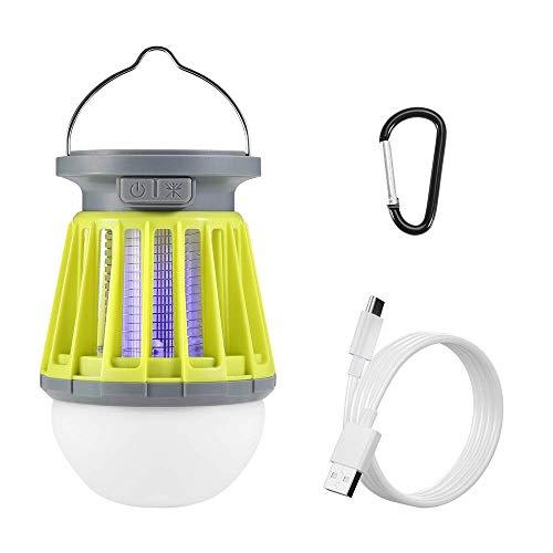 Thorfire Lampe de Camping Solaire, Lanterne Portable avec Anti Moustique Electronique Fonctionnalités, 2 En 1 Lampe Lumière UV LED Imperméable Rechargeable pour Intérieur Exterieur Camping, Randonnée