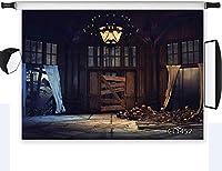 新しいホラーハロウィーンの背景お化け屋敷の頭蓋骨の写真の背景写真撮影用10x7ftファブリックハロウィーンの夜のパーティーイベントの写真ブースの背景スタジオの小道具洗える