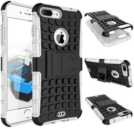 TopgadgetsUk iPhone 7 Coperchio Custodia Protettiva Per Difensore Resistente Ibrido a 360 Strati Con Combo Triplo iPhone 7 Case Cover (WHITE)