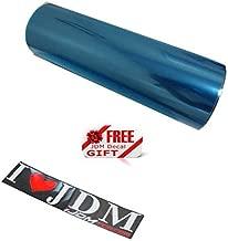 iJDMTOY 12 by 48 inches Self Adhesive 20% Dark Blue Headlight, Tail Lights, Fog Lights Tint Vinyl Film