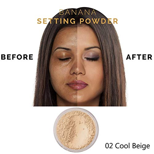 PHOERAFace Powder, Firstfly Loose FacePowder Translucent Smooth Setting Foundation Makeup, 1.02 Oz (#02 Cool Beige)