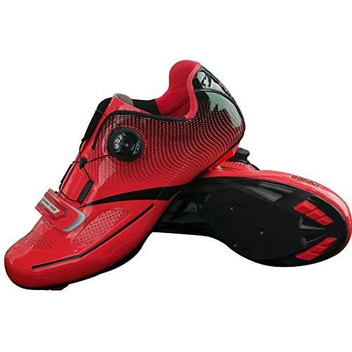 GIYL professionele Strada fietsschoenen ultralight voor fiets, mountainbike-schoenen voor de tuin, rood, 42
