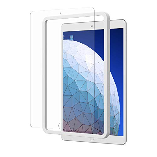 NIMASO ガラスフィルム iPad Air3 2019 / iPad Pro 10.5 用 強化 ガラス 液晶 保護 フィルム ガイド枠付き