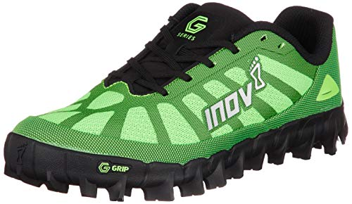 Inov-8 Mudclaw G 260 - Trail Running Shoes - Graphene Grip - OCR, Spartan Race and Mud Run - Green/Black 9.5 M US