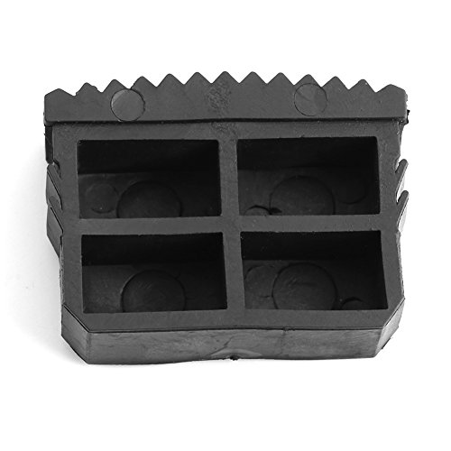2 stuks/1 paar 6,3 x 2,4 x 3,6 cm zwart universele rubberen voetbox, rubberen voetjes, rechthoekige afdekdoppen voor ladder, voeten, ladders