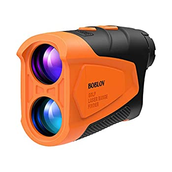 BOBLOV Slope Golf Rangefinder Hunting Rangefinder with Speed 6X Magnification 650 Yards with Compensation Flag Locking and Angle Function Portable Rangefinder with Non-Slope Soft Rubber for Golf Etc