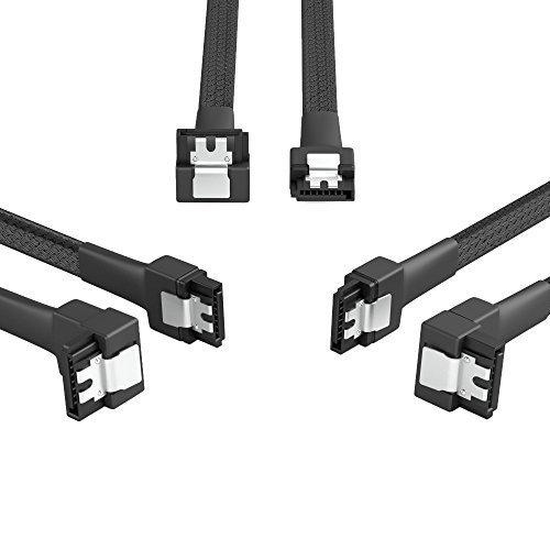 KabelDirekt - 3 x 7-Pin SATA 3 Datenkabel 6 Gbit/s 90° gewinkelt 30cm