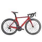 Clouds Bicicleta de Carretera Fibra de Carbono, Ciclismo Ultraligero de 22 velocidades, Ruedas 700C con Cambio de Freno de Disco Doble Bicicleta de Carretera, para entusiastas del Ciclismo