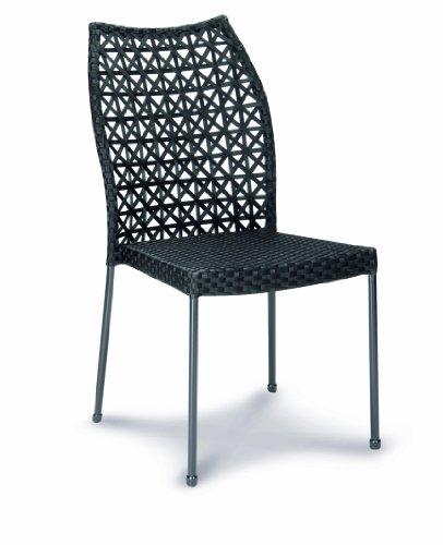 Best 28010251 Stapelsessel Domino ohne Armlehne, schwarz