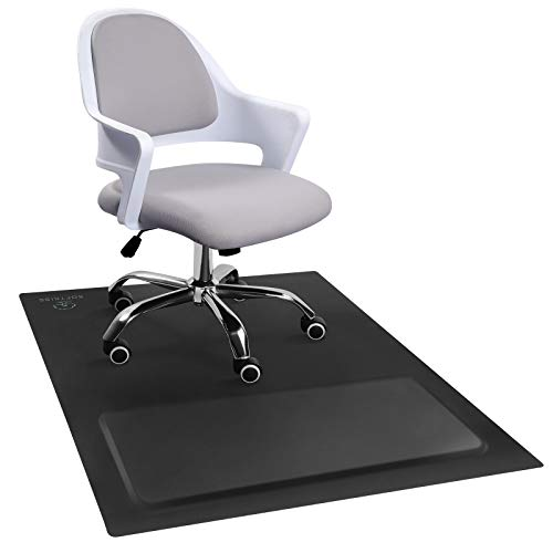 "Office Chair Anti-Fatigue Mat with Cushioned Foam Foot Support, 50"" x 36"" Floor Coverage, Scratch Resistant and Waterproof Anti-Slip Surface, Soft Ergonomic Cushion"