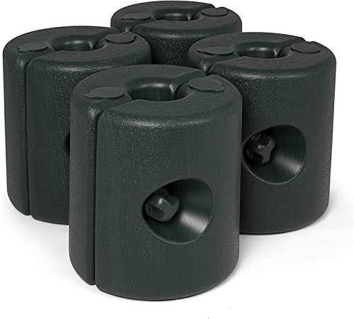 Ram® Zwart 4 X Plastic Gazebo Gewicht Been Voor Tent Vul Met Zand of Water