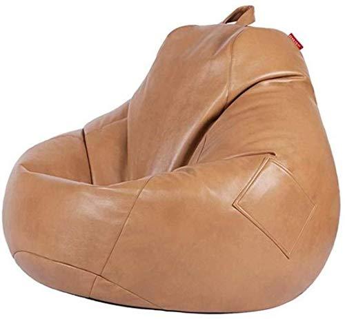 Canapé lit LHY- Confortable Bean Bag Chair Seat Lazy Haut Retour Living Lounge Salle Convient for Lavable Casual Bean Bag Sofa Doux (Color : Brown)