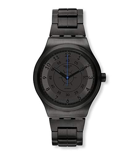 Swatch Reloj Analógico para Hombre de Automático con Correa en Acero Inoxidable YIB401G