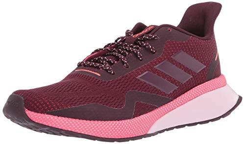 adidas Women's NOVA Run X Track and Field Shoe, Maroon/Maroon/Real Pink, 7 Standard US Width US