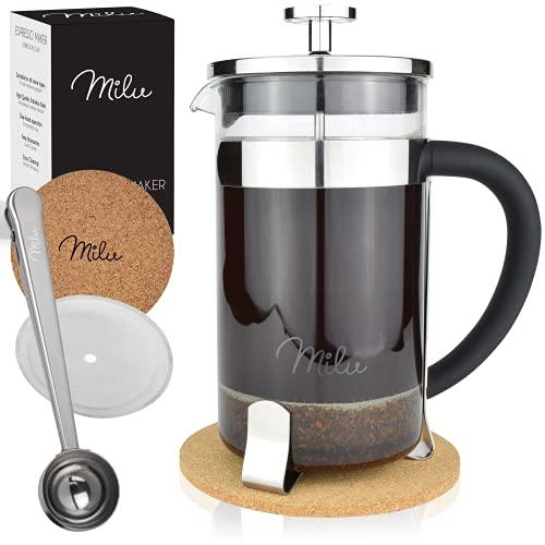 Milu Caffettiera francese Pressa per Caffè | 350ml 600ml 1L...