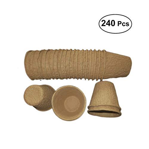 Yarnow 240 Stück Torf Topf Samen Pflanzer Kindergarten Topf für Die Keimung Und Stressfreie Umpflanzung Samen Züchter Sämling Kit
