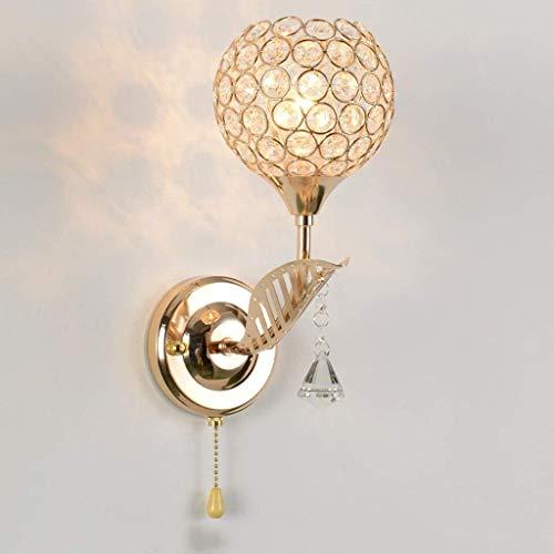 Moderna lámpara de pared de cristal creativa de hojas para mesita de noche, lámpara LED para dormitorio, sala de estar, TV, pared, escalera, pasaje, 30 x 14 cm