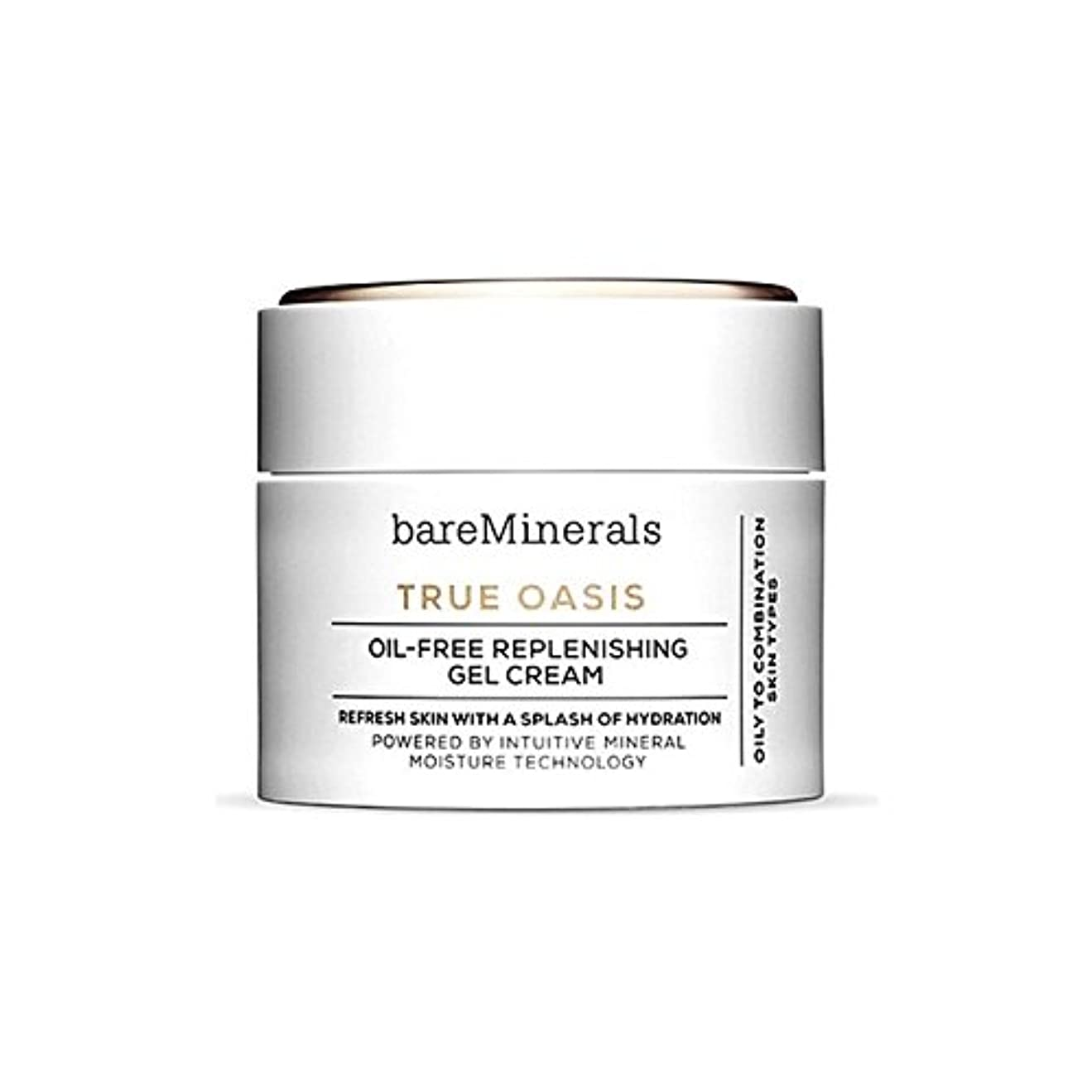 オッズケイ素熱狂的なベアミネラル真のオアシスオイルフリー補給ゲルクリーム50 x4 - Bare Minerals True Oasis Oil-Free Replenishing Gel Cream 50Ml (Pack of 4) [並行輸入品]