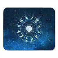 マウスパッド占星術星座ニューエイジホロスコープユニバーススペースマウスパッド用ノートブック、デスクトップコンピュータマットオフィス用品