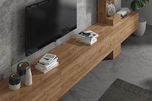 Wuun® Somero Vitrine /360cm/Eiche TV Boards/Vitrine: Eiche Wohnwand/Tv Board/Lowboard