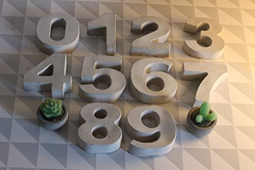 Beton Zahlen M 0-9   Hausnummer   Advent   Tischdeko   Geburtstag
