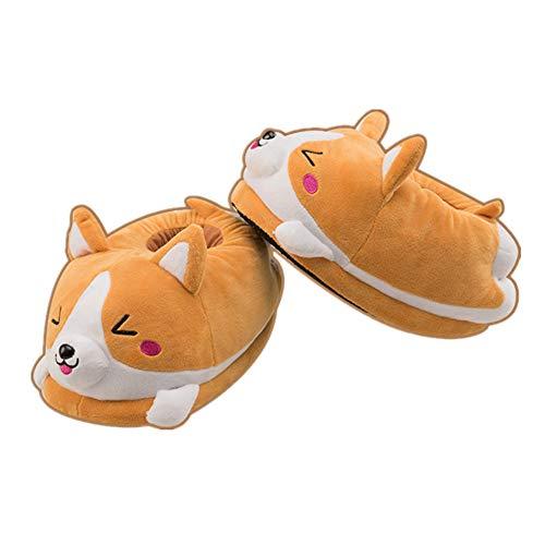 Fortuning's JDS® Shiba Inu Peluche Pantofola Cartone Animato Scarpe Corgi Animale Unisex Cosplay