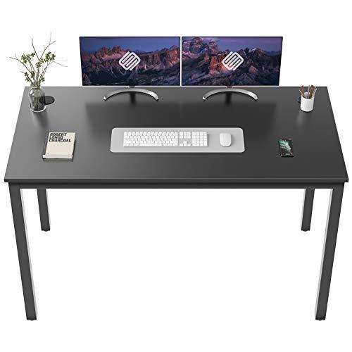 EUREKA ERGONOMIC 55 inch Simple Computer Desk for Home Office, Writing Table for Workstation, Black