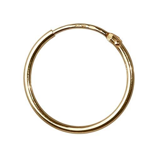 NKlaus EINZEL 750 gelb GOLD gestempelt Creole Ohrring Ohrhänger Ohrstecker 17,5mm 1758