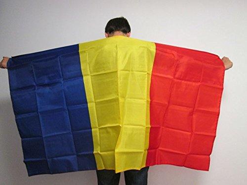 AZ FLAG UMHANGFLAGGE RUMÄNIEN 150x90cm - RUMÄNISCHE Cape Fahne 90 x 150 cm - flaggen