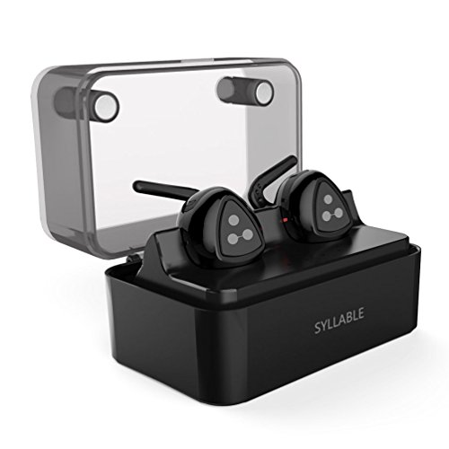 True Wireless Earbuds, Syllable TWS Bluetooth Headphones Twins Stereo Mini Bluetooth Earbuds V4.0 In Ear Earphones with Mic for iPhone Samsung iPad and Most Android Phones, Support Siri