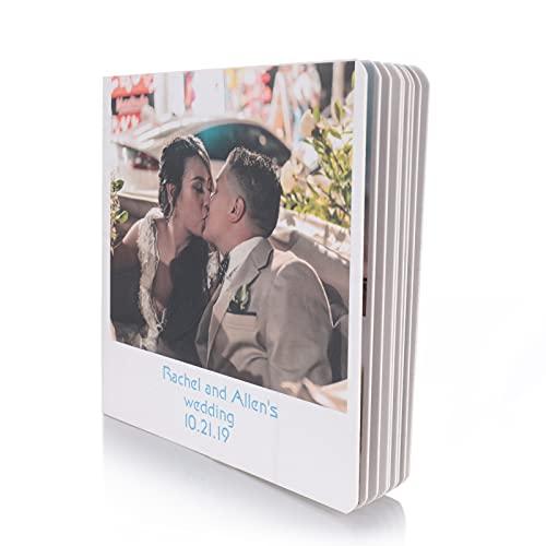 Albertband Fotolibri personalizzati 11x11 cm Nomi personalizzati e 33 immagini Album fotografico Libro dei ricordi di nozze Regalo per San Valentino Anniversario Compleanno per mamma papà