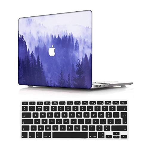 NEWCENT Newest MacBook Air 13' Case,Plastic Ultra Slim Light Hard Case UK Keyboard Cover for Newest MacBook Air 13 inch with Retina Display Touch ID 2020 Release(Model:A2337 M1/A2179),Landscape 30