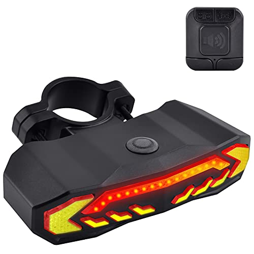USPUERINK Smart Bike Tail Light with Turn Signals and Automatic Brake Light Wireless Remote Control Bike Rear Light Back USB Rechargeable Safety Warning Cycling Light with Anti-theft Function, 10 Pack