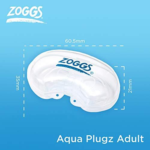 Zoggs Aqua Plugz Ear Plugs for Swimming, Blue, 14+ Years