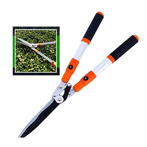 Check Out This XPKZYSLJ-J Telescopic Hedge Shears Manual Clippers with Wavy Blade for Trimming Borde...