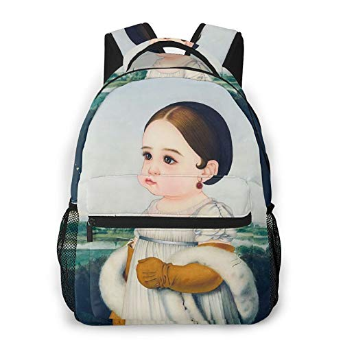 Lovely World Famous Paintings Environmentally Friendly, Lightweight, Large-Capacity, Multi-Function Backpack, Suitable for Camping, Travel, Etc