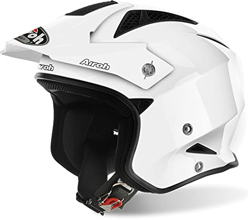 casco moto trial Airoh TRRS14 Trr S Color White Gloss S