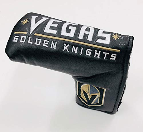 Team Golf NHL Las Vegas Golden Knights Golf Club Vintage Blade Putter Headcover, Form Fitting Design, Fits Scotty Cameron, Taylormade, Odyssey, Titleist, Ping, Callaway