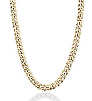 MiaBella Solid 18K Gold Over Sterling Silver Italian 5mm Diamond-Cut Cuban Link Curb Chain Necklace for Women Men 16 18 20 22 24 26 30 Inch 925 Sterling Silver Made in Italy  22 Inches