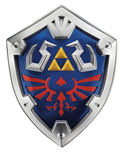 Contenuto della confezione: 1X Zelda skyward Sword hylia scudo di Link come Nintendo costume accessori Contenuto: 1X visiera Colore: argento, blu, oro, rosso Dimensioni: ca. 39cm x 49cm Materiale plastica