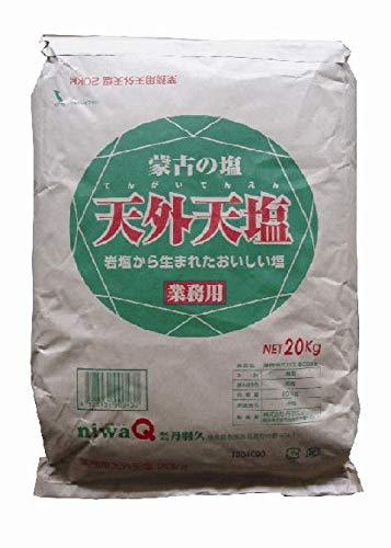 丹羽久( niwaQ) 業務用天外天塩 20kg イージーオープン 岩塩 精製塩 微粒タイプ