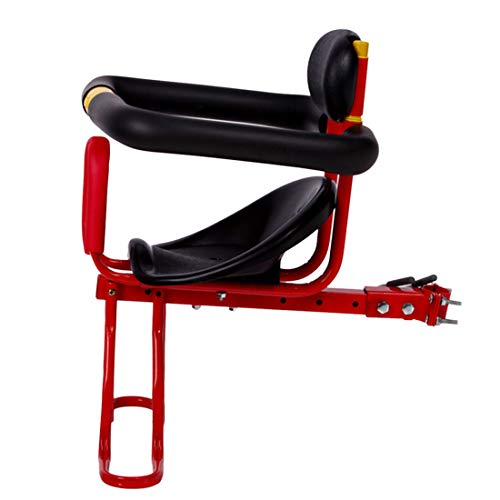POXL Fahrradsitz Vorne für Kinder, Kindersitz Fahrrad Vorne Abnehmbarer Fahrradsitz Kinder Vorne mit Rückenlehne und Fußplattform für Kinder 2-6 Jahren